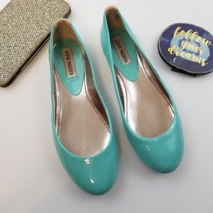 Steve Madden Mint Blue Flats 8
